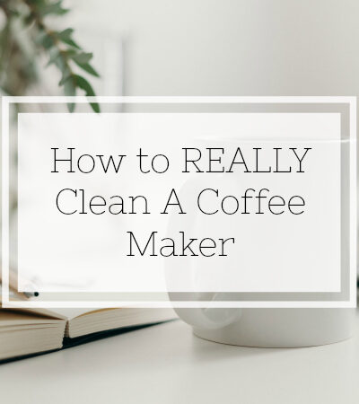 Instructions on how to clean a coffee maker