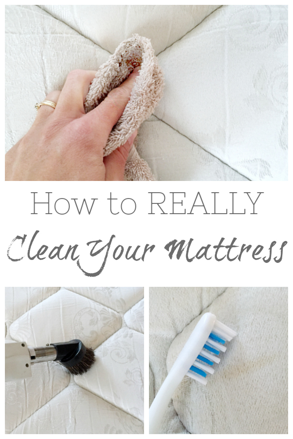 Cleaning A Mattress isn't as difficult as it may sound. You just need a couple items and you'll be ready to go. Check out this tutorial on how to clean a mattress.