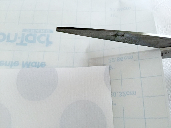 Cutting contact paper for DIY drawer liners