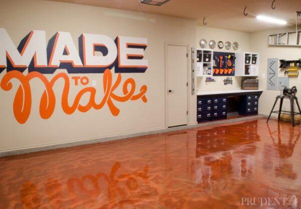 Garage Makeover Via Polish Habitat