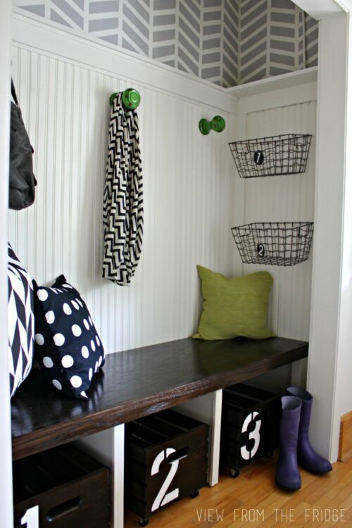 Entryway Makeover via View From the Fridge