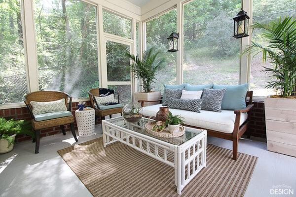 Porch and Patio Makeover Via Paper Daisy Design