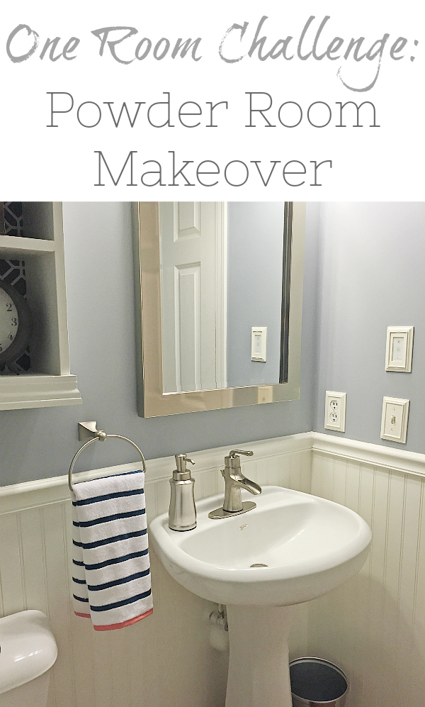 A boring beige powder room gets a major transformation in just 5 weeks.