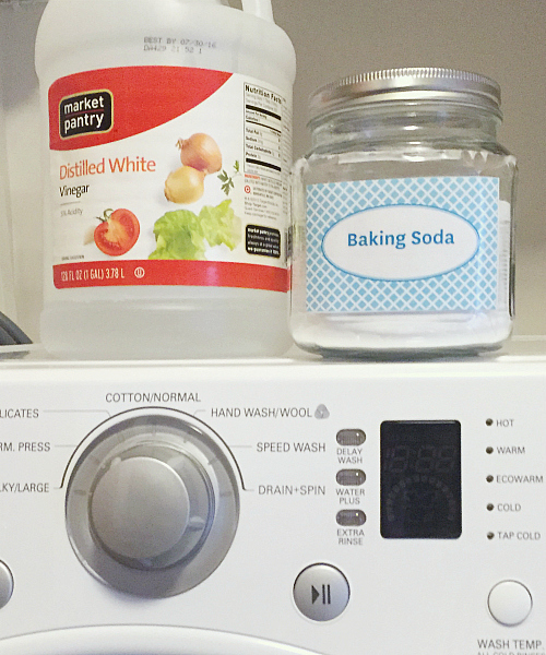 All you need to freshen laundry is vinegar and baking soda.