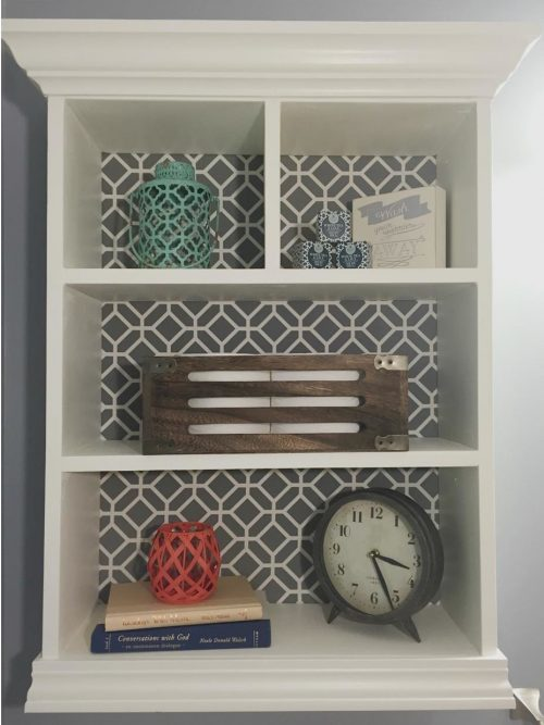 Adding A Twist to Shelving with Fabric