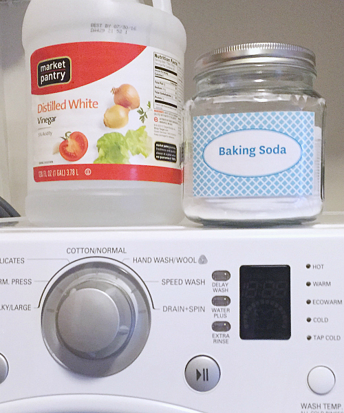 Items needed to clean a washing machine