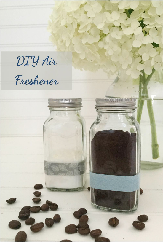 Easiest DIY Air Freshener ever! Love the idea of using coffee!!! #airfreshener #diyairfreshener