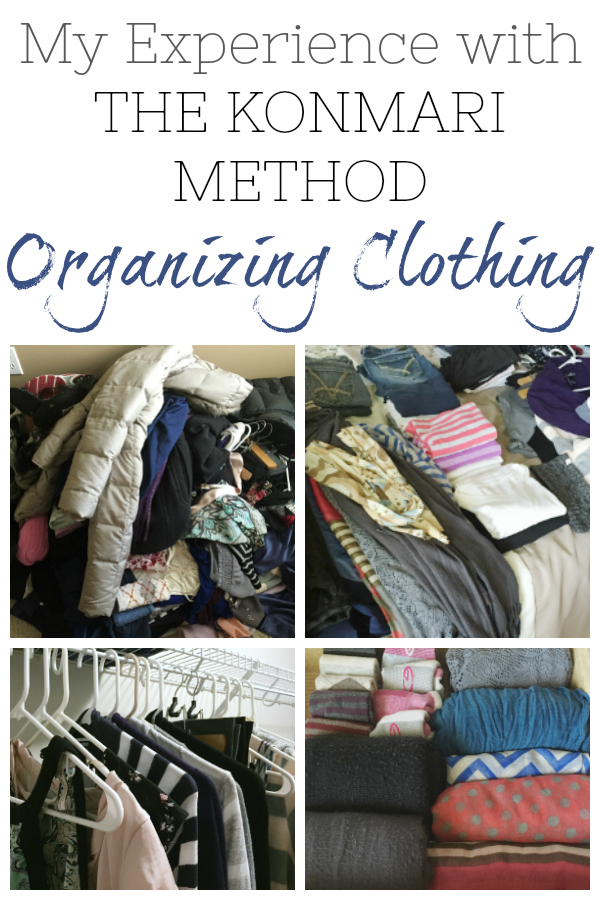 Sharing my experience with the Konmari method of organizing, starting with clothes.