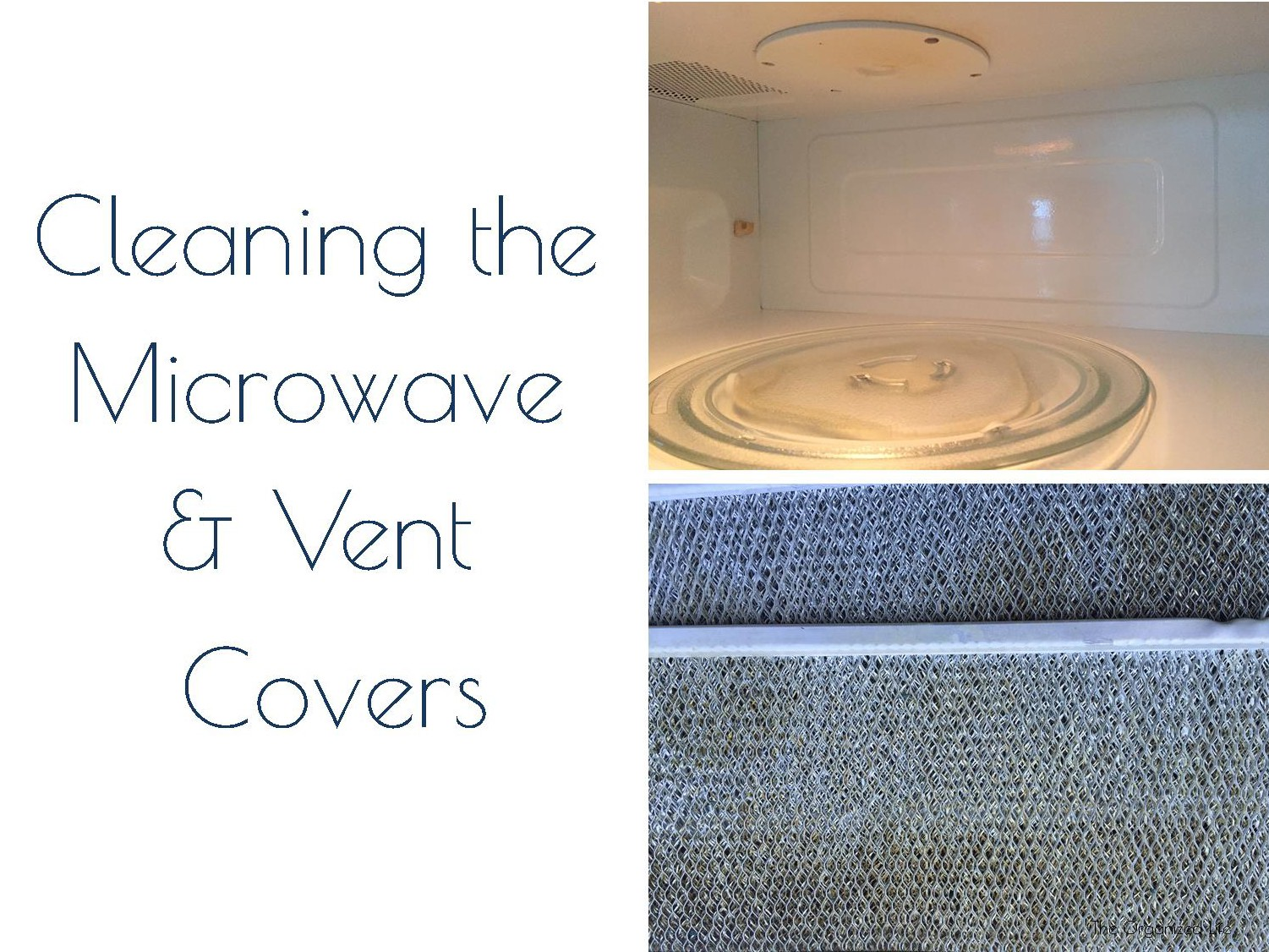 Cleaning the Microwave and Vent Covers