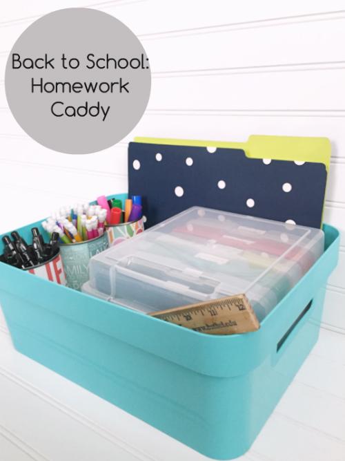 Back to School: Homework Caddy