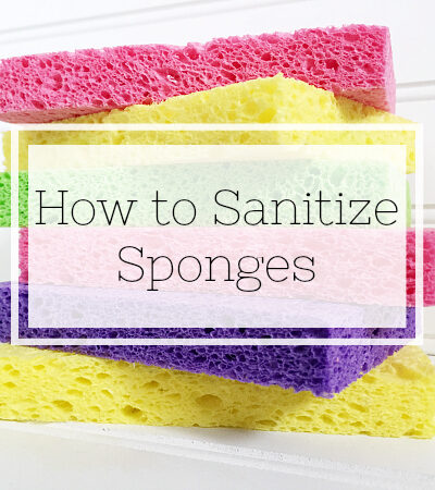 Learn how to sanitize your sponges so you can reuse them without spreading germs around.
