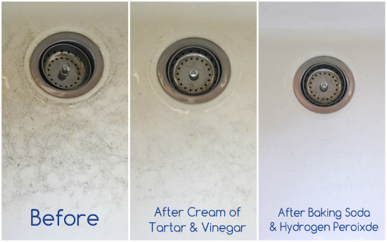 Porcelain sinks are prone to scratching and stains, but this tip for cleaning a porcelain sink is seriously incredible! I cannot believer how well it worked, and I already had everything I needed! #porcelainsink #cleaningporcelainsink #cleaning #cleaningtip