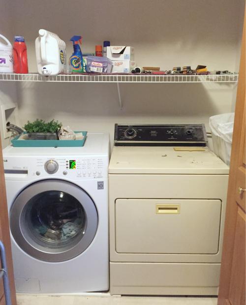 "$100 ""One Room Challenge"" Laundry Room"