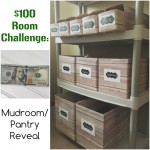 $100 Room Challenge: The Mudroom/Pantry Reveal