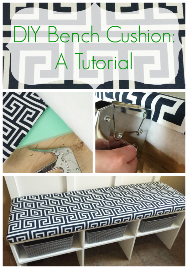 Great tutorial for making a bench cushion. #benchcushion