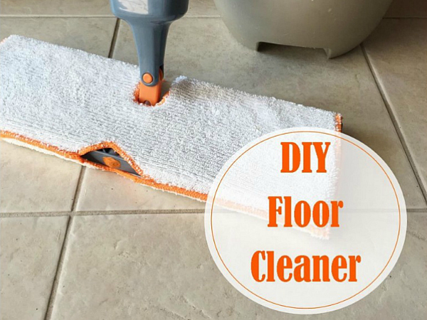 Easy DIY Floor Cleaner using items you already have on hand