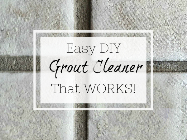This easy DIY grout cleaner works like magic... and all you need is baking soda and hydrogen peroxide!