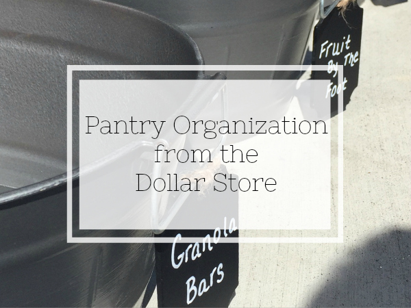 Budget-friendly pantry organization from the dollar store. Everything from spray painted plastic bins to repurposed boxes.