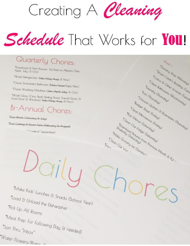 Creating A Cleaning Schedule that Works for You!