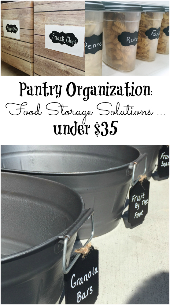 Food storage containers can be SO expensive. These are great ideas for organizing your pantry without spending much at all!