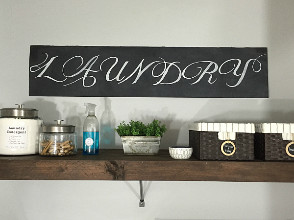 How to make a large chalkboard sign from a piece of cardboard.