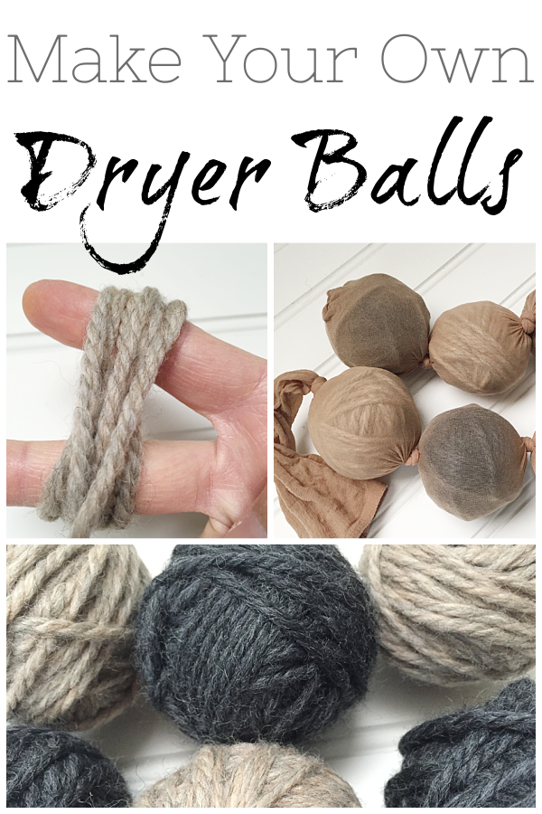 Easy to make dryer balls. Not only do dryer balls soften laundry, they also reduce dry time. A great alternative to using dryer sheets.