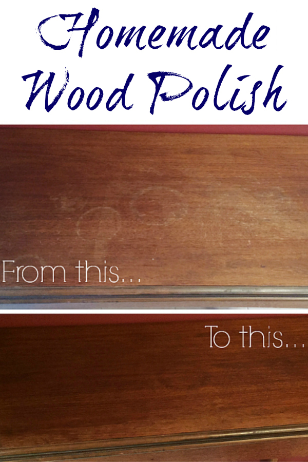 This DIY Wood Polish is absolutely amazing! I love that it's all natural and only uses two ingredients from the pantry.