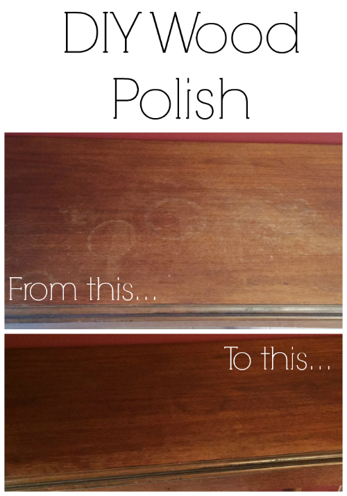 Love this easy recipe for DIY Wood Polish using lemon and olive oil!