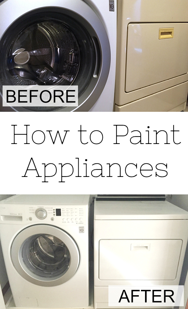 How to Paint an Appliance whether mismatched or outdated.