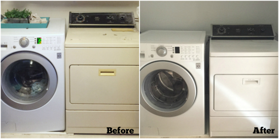 Before and After Dryer Painting