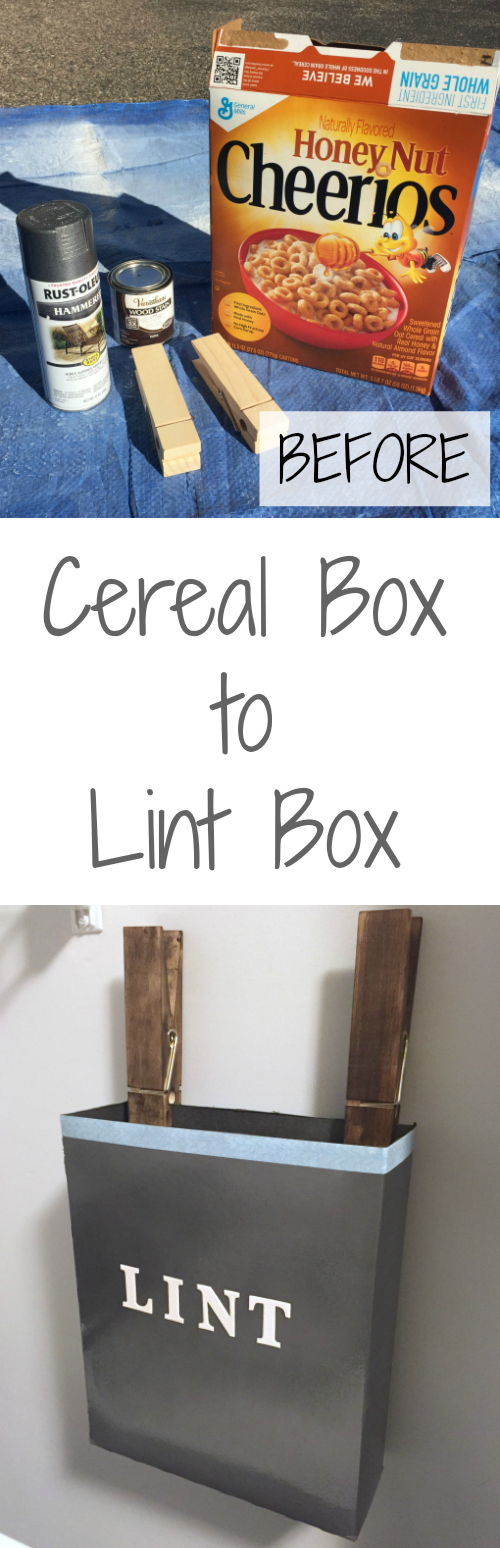This idea is SO cute. Hard to believe it started out as a cereal box!