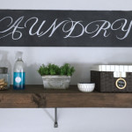 DIY Chalkboard Sign from a Piece of Cardboard