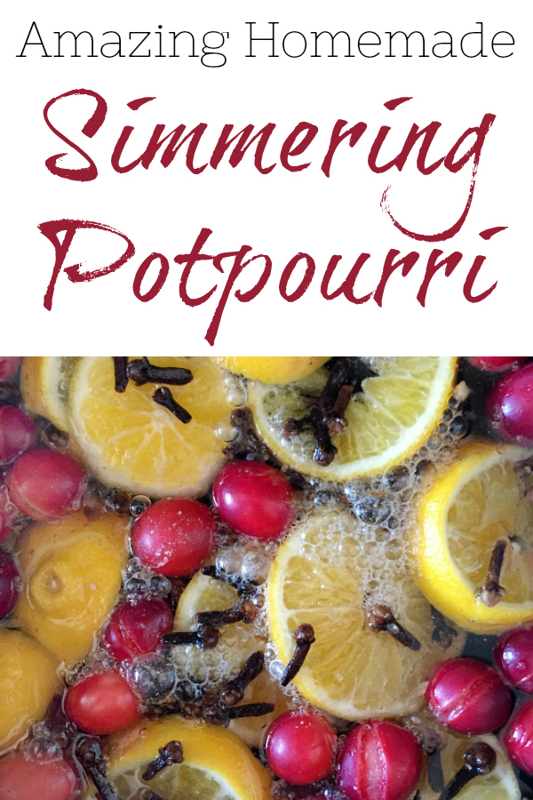 This recipe for simmering potpourri smells heavenly. It smells like you've been baking all day, but it only requires a few ingredients thrown into a pot.