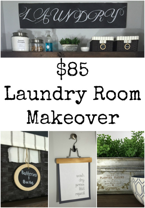 I can't believe how much changes in this laundry room for only $85!