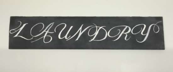 Cardboard Box to Chalkboard Sign!