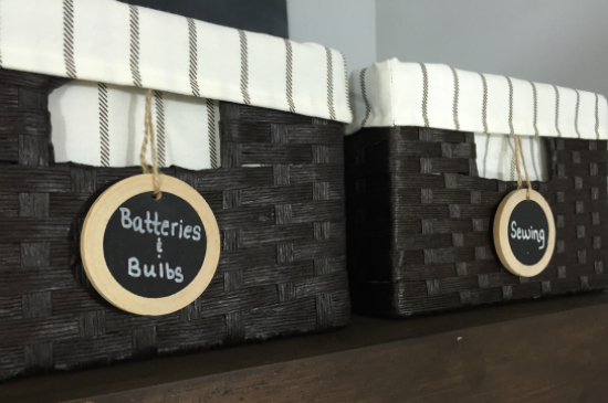 Storage Baskets for the Laundry Room