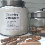 Farmhouse Favorites for the Laundry Room Montana Jars for laundry detergent