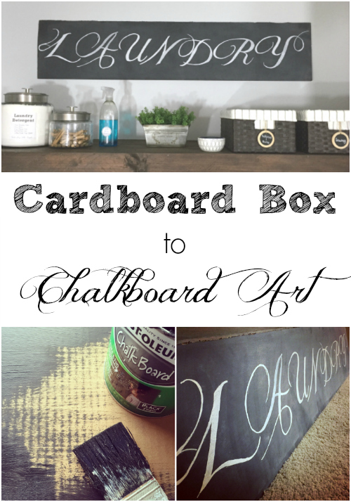 Cardboard Box to Chalkboard Art
