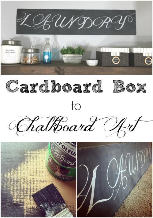 Cardboard Box to Chalkboard Art