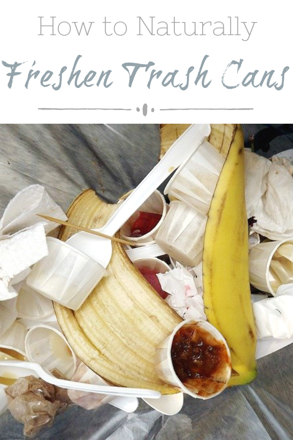 Easy way to naturally freshen trash cans
