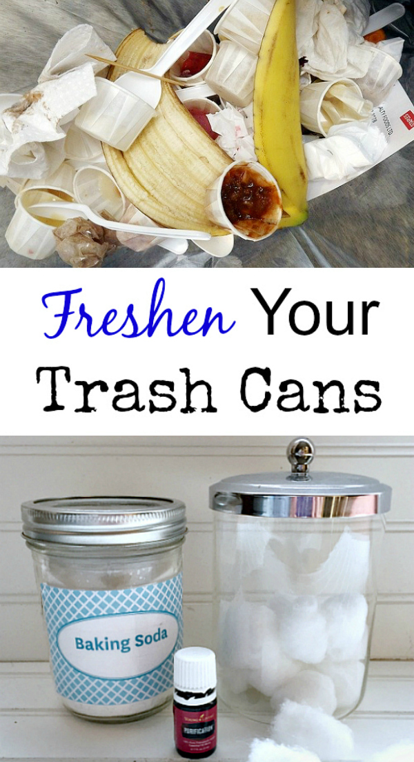 Naturally freshen your trash cans!