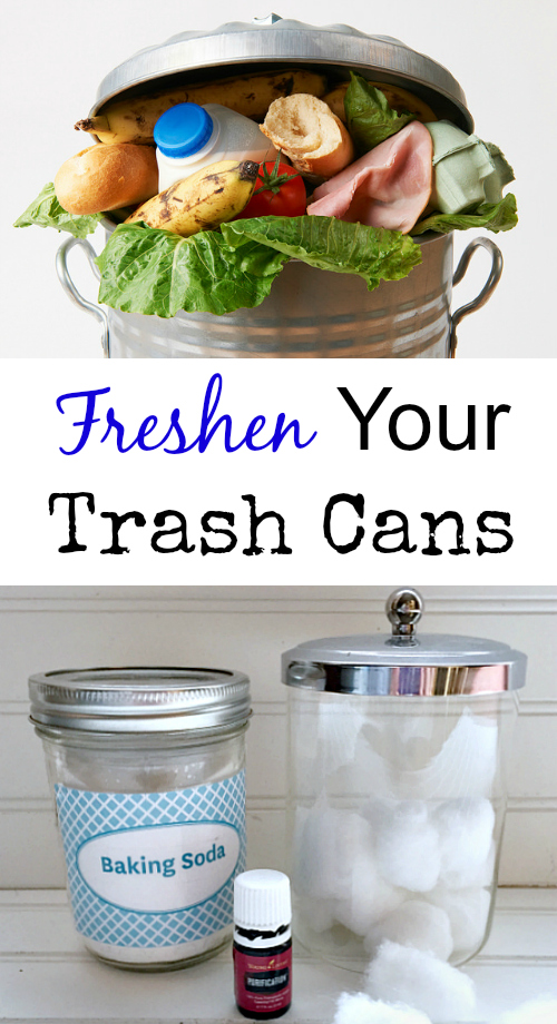 A simple trick to reduce/eliminate odors from your trash cans.