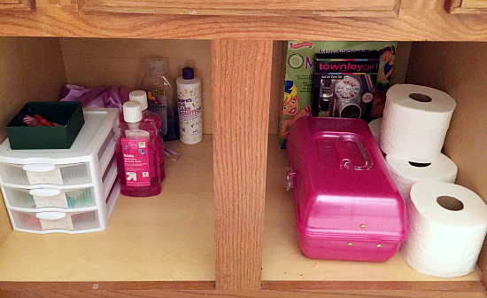 Kids Bathroom Reveal: Under the Sink Organization