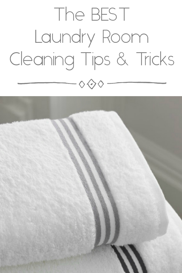 Laundry Room Cleaning Tips Pinterest Image