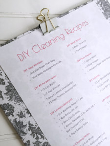 Cleaning Closet Reveal: DIY Clipboard with DIY Cleaning Recipes