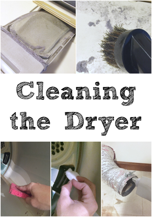 Great tutorial for cleaning the clothes dryer