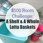 $100 Room Challenge: A Shelf & A Whole Lotta Baskets!