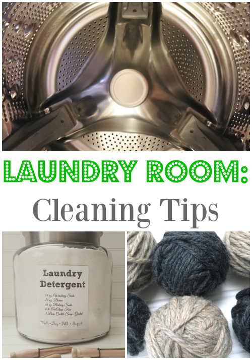 Awesome cleaning tips for the laundry room!