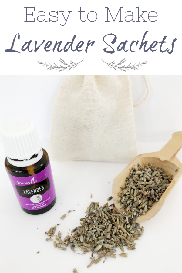 Easy-to-Make Lavender Sachets to freshen drawers and closets.