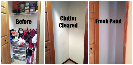 Cleaning Closet Clearing the Clutter